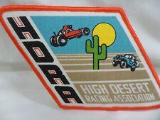 HDRA High Desert Racing Association Large Sized Jacket Patch Vintage 1980's NOS