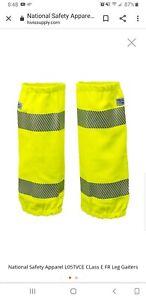 Vizable Flame Resistant Hi-Vis Leg Gaiters,Class E Osfm Fluorescent...