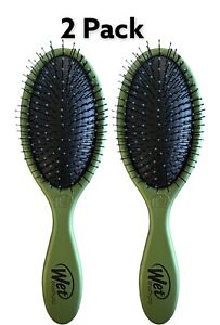 2 Pack Wet Brush Detangler Hunter Green