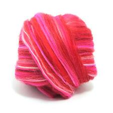 100g teints Laine Mérinos Top Rose Magenta dreads 64 de filature feutrage nappe