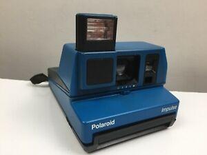 Polaroid Impulse  - Instant Film Camera - Blue - Vintage - Good Condition -