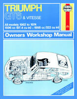 Triumph GT6 & Vitesse 1962-1974 Haynes Manual 112 NEW