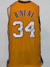 SHAQUILLE SHAQ ONEAL SIGNED AUTOGRAPHED CUSTOM LAKERS YELLOW JERSEY PSA