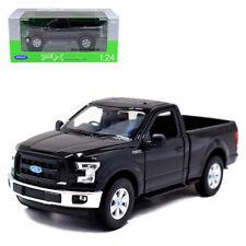 1:24 Welly 2015 Ford F150 Regular Cab Metal Diecast Model Pickup Truck Black