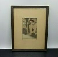 Porch Beautiful ~ Hand-Colored Photograph Signed by David Davidson ~ Circa 1920