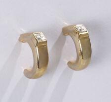 Moderne Trend Ohrringe Stecker gold plated Swarovski Glas Stein Kristall * Neu