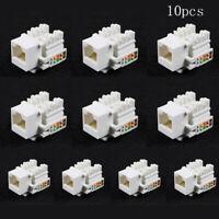 10Pcs Punch Down Type Cat5E 8P8C RJ45 LAN Network Ethernet Keystone Socket Set