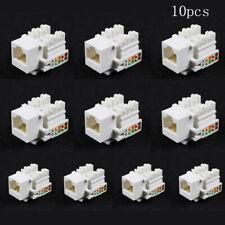 10Pcs Punch Down Type Cat5E 8P8C  RJ45 LAN Network Ethernet Keystone Socket&568A
