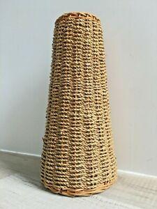 Rattan Wrapped Vase | Tall | Ceramic Inner | Natural Home Decor | Flower Vase