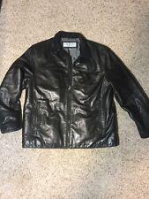 MARC NEW YORK LARGE ANDREW MARC Black Soft LEATHER Moto FLIGHT BOMBER JACKET