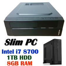 Intel 8th-Gen i7 8700 6-Core Slim Desktop PC 1TB HDD 8GB RAM HDMI DVI Computer