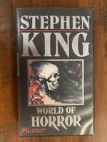 WORLD OF HORROR rare Australian Virgin VHS video Stephen King horror documentary