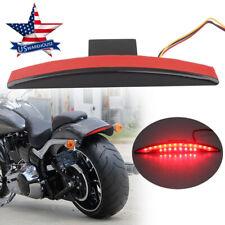 Rear Smoke Fender Tip Brake Tail Light LED For Harley Breakout FXSB 13-17 14 US