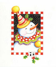 Mary Engelbreit-Snowman Party Hat Carrot Nose-Sunrise Christmas Card-New!