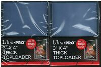50 Ultra Pro 100pt Thick Toploaders Jersey Cards 2 Packs of 25 NEW Top Loader