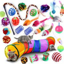 Cats Stick Ball Toys Feather Bulk Toy Cat Play Kitten Stick Pet Tunnel Mouse