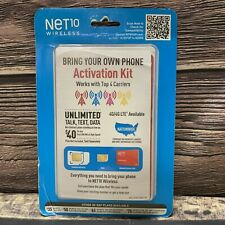 Net10 Wireless Sim Card - Bring your Own Phone Activation Kit