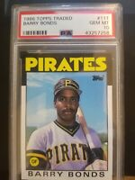 1986 Topps Traded Barry Bonds RC Rookie #11T PSA 10 GEM MINT 💎💎