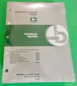 John Deere 9650 CTS Combine Repair Technical Manual (TM1821)