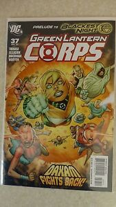 """""""Prelude To Blackest Night"""" Green Lantern Corps Issue 37 """"First Print"""" - 2009"""