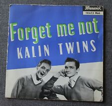 Kalin Twins, forget me not + 3, EP - 45 tours