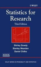 """""""VERY GOOD COND""""  STATISTICS FOR RESEARCH 3RD EDITION (2004)"""