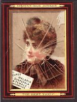 "US Victorian Trade Card ""Brown's Iron Bitters"" Cures Malaria &Female Infirmities"