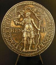 Medaille Sceau armes ET.PACE.ET.BELLO.ARMA Henri II ? refrappe en étain medal