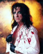 2 Alice Cooper Rock Singer Preprinted Hand Signed Autographs Photo 8x10 Pictures