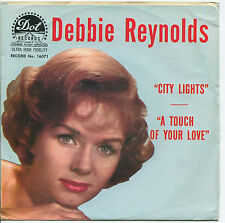 DEBBIE REYNOLDS 'City Lights / A Touch Of Your'  45 RPM PICTURE SLEEVE (POP)