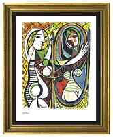"Pablo Picasso Signed/Hand-Numbered Ltd Ed ""Girl Before Mirror"" Print (unframed)"