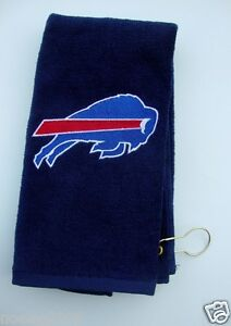 Personalized Embroidered Golf Bowling Workout Towel Buffalo Bills NFL