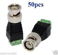 50pcs  Coax CAT5 To Camera CCTV BNC Video  Connector