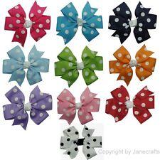 "10pcs 3"" Polka Dot Grosgrain Daily Girl Baby Toddler Hair Bow Clips Mix 10 Color"