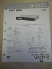 Sony Service Manual~ST-S222ES Stereo Tuner~Original~Repair