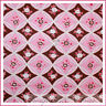 BonEful Fabric FQ Cotton Quilt Pink Brown White Rose Flower Girl S Calico Stripe