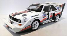 Voitures de courses miniatures blancs en résine pour Audi