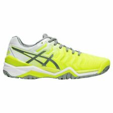 WOMEN'S ASICS GEL-RESOLUTION 7 (750: SAFETY YELLOW / STONE GREY) TENNIS SHOES