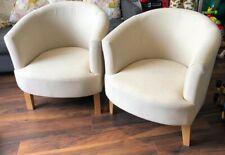 Ora Tub Fabric Accent Chair X2 (Pair)