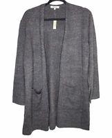 NWT Madewell Sz M Donegal Kent Cardigan Sweater Coziest Yarn Gray Wool Blend