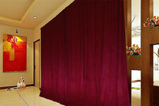 Long Large Thick 80% COTTON Velvet Curtains 600x270cm+4m blockout+hooks Red New