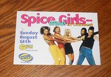 Spice Girls Wild! IN Concert Postcard 1998 Promo 6x4
