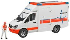 Bruder Toys Mercedes MB Sprinter Ambulance Van with Driver  02536 Kids Play New