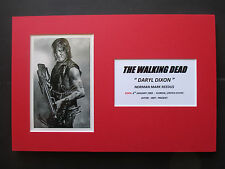"""THE WALKING DEAD """"DARYL DIXON"""" - NORMAN REEDUS SIGNED PRINTED A4 MOUNTED PHOTO"""