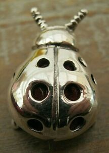 A Sweet Sterling Silver Ladybird/ Lady Bug Pin Cushion - Red Velvet