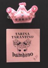 TARINA TARANTINO PRINCESS CROWN HAIR CLIP IN DRAWSTRING BAG WITH LOGO RIBBON
