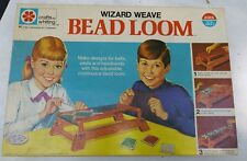 CRAFTS BY WHITING WIZARD WEAVE BEAD LOOM #1102 1971  MILTON BRADLEY --COMPLETE