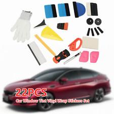 Car SUV Window Tint Vinyl Wrap Stickers Set Squeegee Scraper Applicator Tool 22X