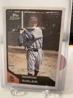 2011 Topps Lineage Cloth Stickers St. George Sisler Baseball Card #TCS8