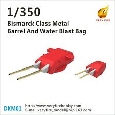Very Fire 1/350 Bismarck metal barrel and water blast bag